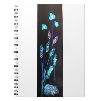Hamster at night in a colourful Poppy corn meadow Notebook