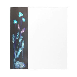 Hamster at night in a colourful Poppy corn meadow Notepad