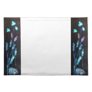 Hamster at night in a colourful Poppy corn meadow Place Mat