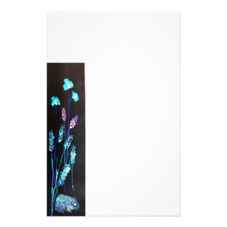 Hamster at night in a colourful Poppy corn meadow Stationery