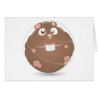 hamster ball greeting card
