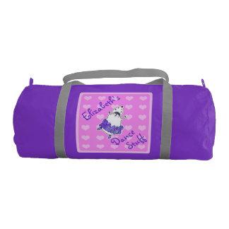 Hamster Ballerina Dance Bag purple pink Gym Duffel Bag
