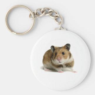 Hamster Basic Round Button Key Ring