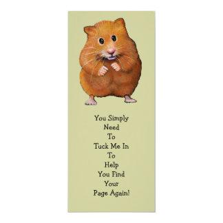 """HAMSTER BOOK MARK: """"Tuck Me In"""" 10 Cm X 24 Cm Invitation Card"""