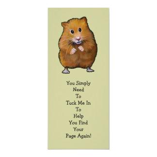 "HAMSTER BOOK MARK: ""Tuck Me In"" 4x9.25 Paper Invitation Card"