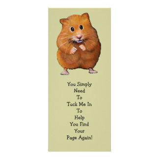 "HAMSTER BOOK MARK: ""Tuck Me In"" Custom Announcements"