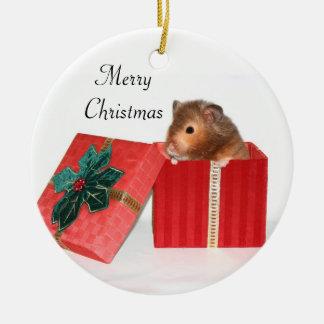 Hamster Christmas gift Christmas Ornament