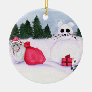 Hamster Christmas Ornament