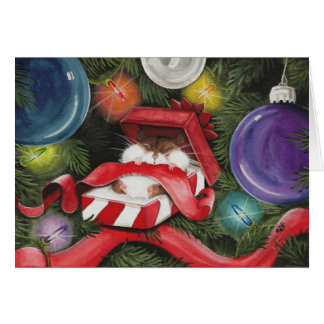 Hamster Christmas Siesta Greeting Card