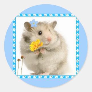 hamster classic round sticker