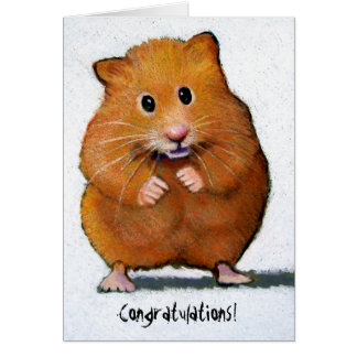 HAMSTER Congratulations! Greeting Card