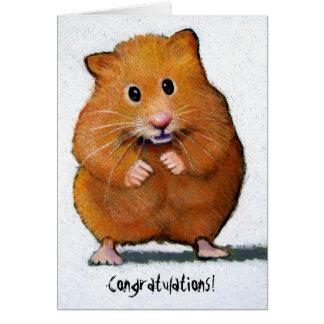 HAMSTER Congratulations! Greeting Card