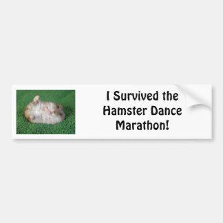 Hamster Dance Marathon Bumper Sticker