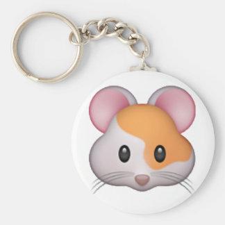 Hamster - Emoji Basic Round Button Key Ring