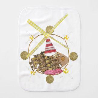 Hamster Ferris Wheel Burp Cloth