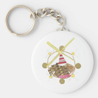 Hamster Ferris Wheel Keyring Basic Round Button Key Ring
