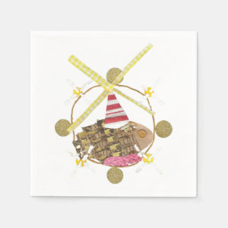 Hamster Ferris Wheel Napkins Disposable Serviette