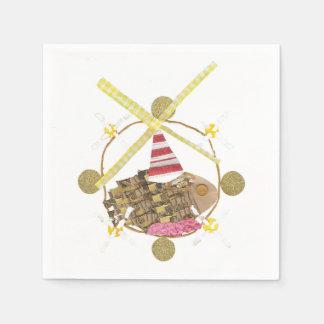 Hamster Ferris Wheel Napkins Paper Serviettes
