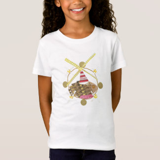 Hamster Ferris Wheel No Background Girl's T-Shirt