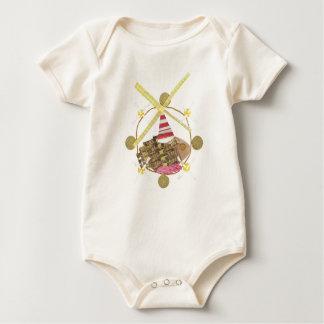 Hamster Ferris Wheel No Background Organic Babygro Baby Bodysuit