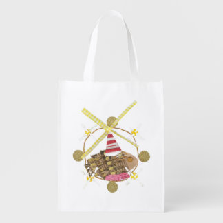 Hamster Ferris Wheel No Background Reusable Bag
