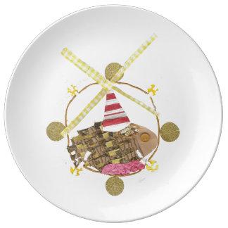 Hamster Ferris Wheel Porcelain Plate