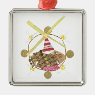 Hamster Ferris Wheel Premium Ornament