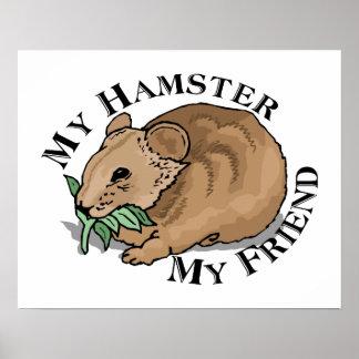 Hamster Friend Poster