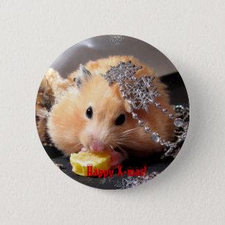 Hamster Happy X-mas! 6 Cm Round Badge