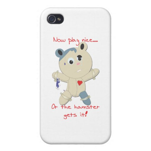 hamster hostage iPhone 4 cover