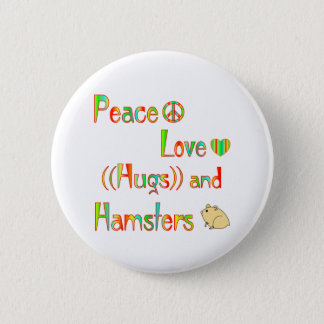 Hamster Hugs 6 Cm Round Badge