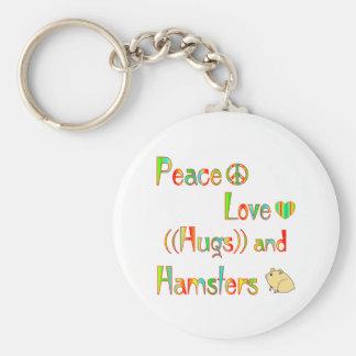 Hamster Hugs Keychains