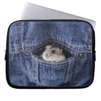 Hamster in pocket laptop sleeves