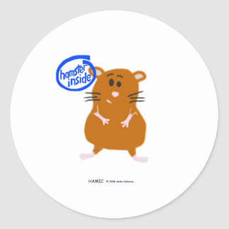 Hamster Inside Classic Round Sticker