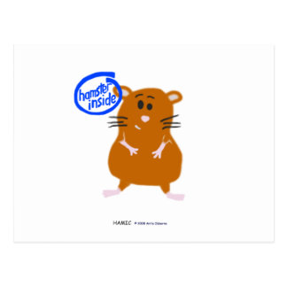 Hamster Inside Postcard