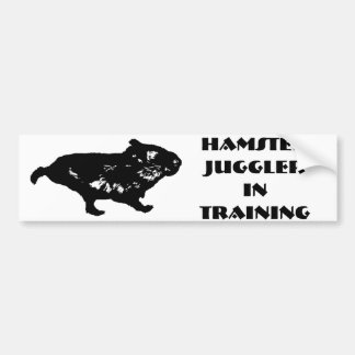 Hamster Juggler in Training Bumper Stickers
