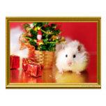 Hamster Kokolinka with Christmas tree Postcard