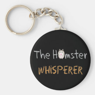 "Hamster Lover Gifts ""The Hamster Whisperer"" Key Ring"