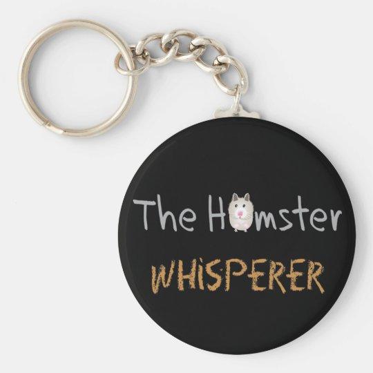 """Hamster Lover Gifts """"The Hamster Whisperer"""" Key Ring"""