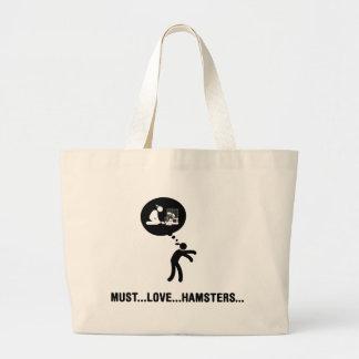 Hamster Lover Large Tote Bag