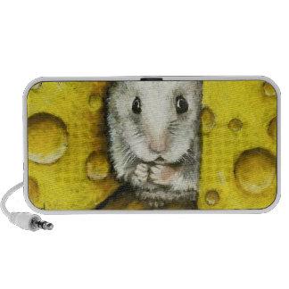 Hamster on a cheese shelf iPod speaker