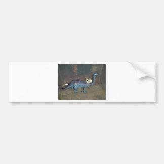 Hamster on a dinosaur bumper sticker