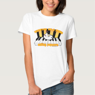 Hamster on a piano eating popcorn shirts