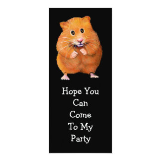 HAMSTER PARTY INVITATION: Original Art 10 Cm X 24 Cm Invitation Card