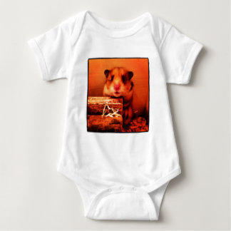 Hamster photo design baby bodysuit