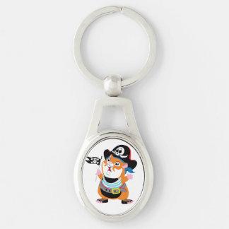 hamster pirate key chain