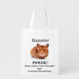 Hamster Power Reusable Bag! Reusable Grocery Bag