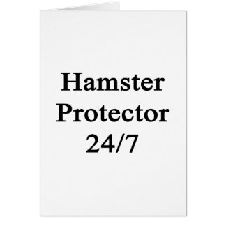 Hamster Protector 24/7 Note Card