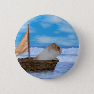 Hamster Sailor 6 Cm Round Badge