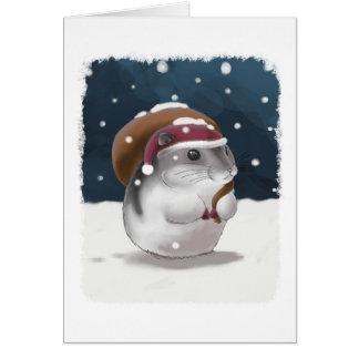 Hamster Santa Card